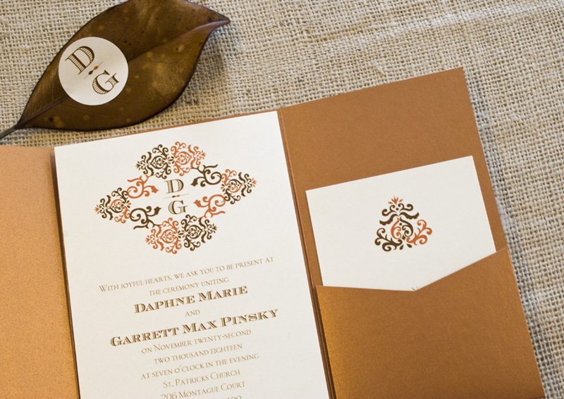 Local Wedding Invitations: Fall Themed Tampa Bay Wedding Invitations