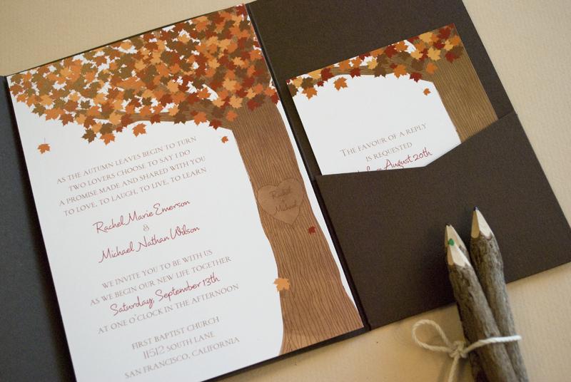 Fall Themed Tampa Bay Wedding Invitations Invitation Consultants