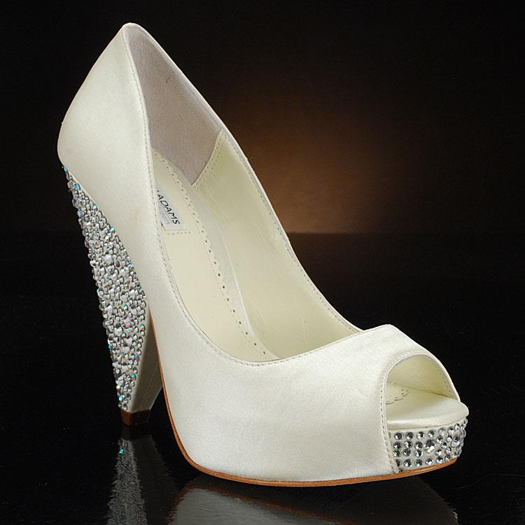 Benjamin Adams Crystal Wedding Shoes