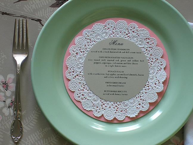 DIY Wedding Place Cards Menus Doily Charger Tampa Bay Sarasota Real