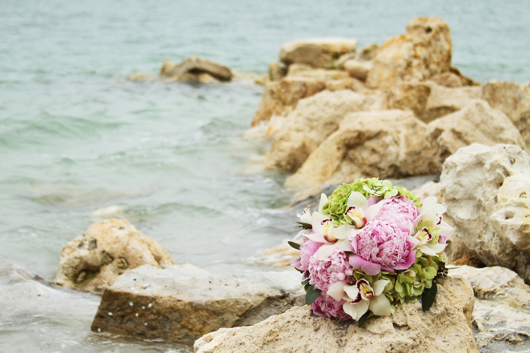 Green and Pink Clearwater Sand Key Park Wedding (3)