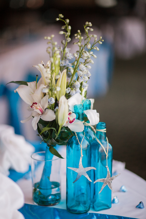 Blue beach themed rusty pelican wedding marry me tampa