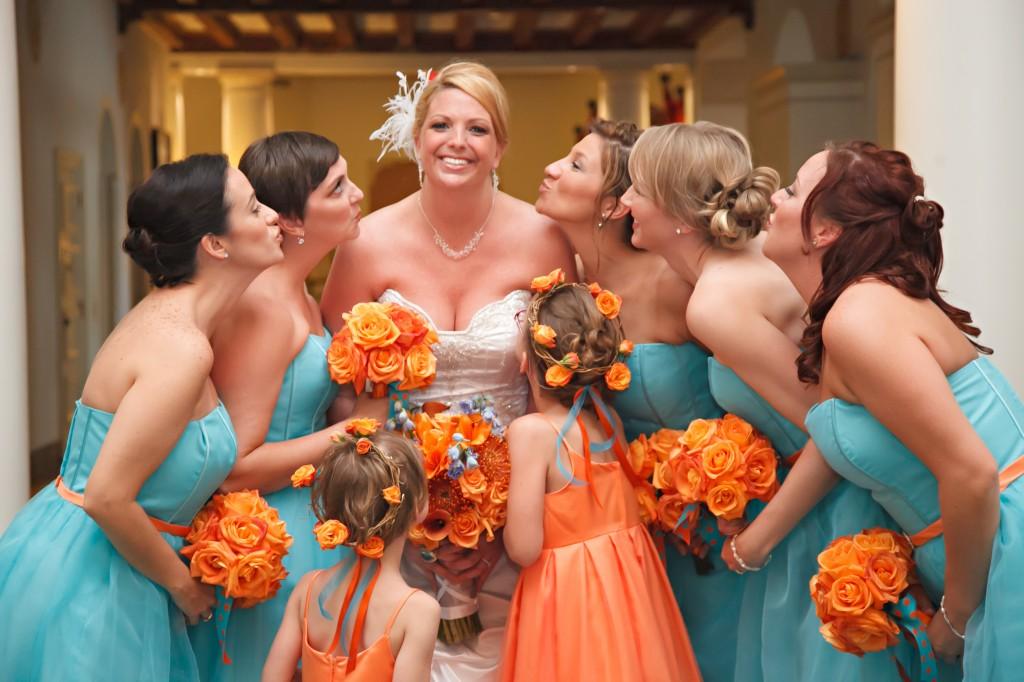 Orange And Turquoise Goldfish Themed Wedding At The
