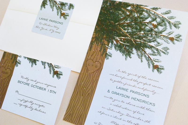 Winter Wedding Invitations Zazzle. Pine Tree Wedding Invitations ...