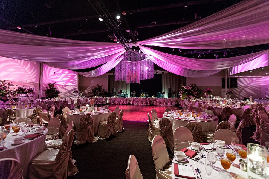 Fuchsia and Champagne Modern Nigerian Tampa Destination Wedding - Tampa Wedding Venue A La Carte Pavilion (6)