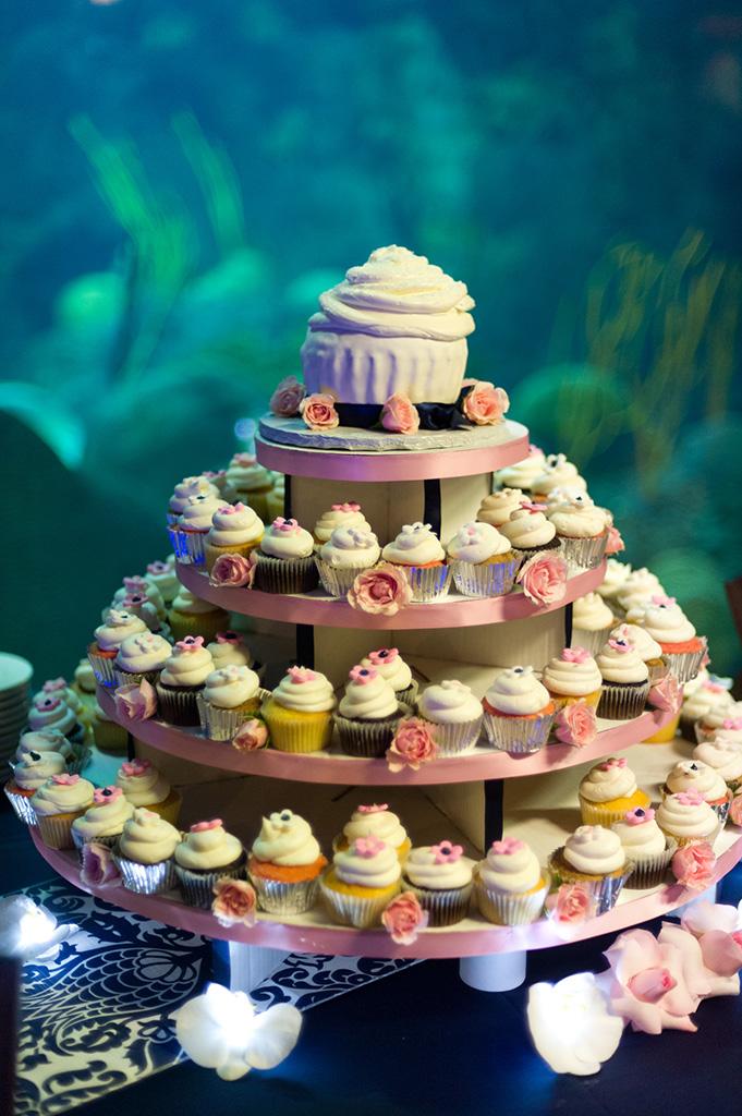 Navy & Pink Tampa Destination Wedding - The Florida Aquarium by Aaron Bornfleth Photographer (30)