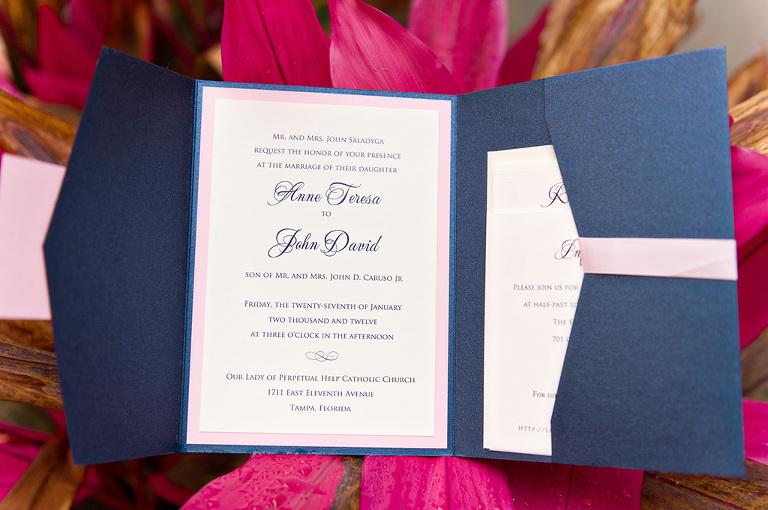 Navy & Pink Tampa Destination Wedding - The Florida Aquarium by Aaron Bornfleth Photographer (3)
