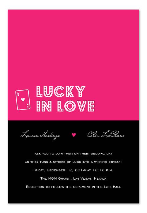 Modern Wedding Invitations - Lucky in Love - InvitationConsultants.com