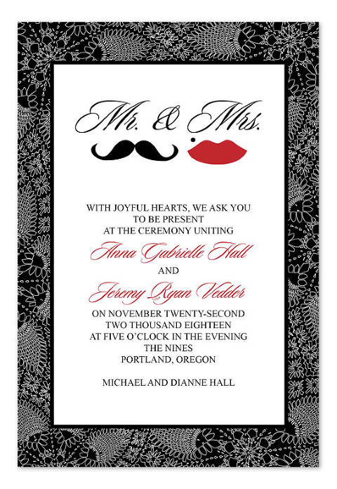 Mustache Wedding Invitations - InvitationConsultants.com (2)
