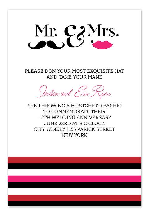 Mustache Wedding Invitations - InvitationConsultants.com (1)