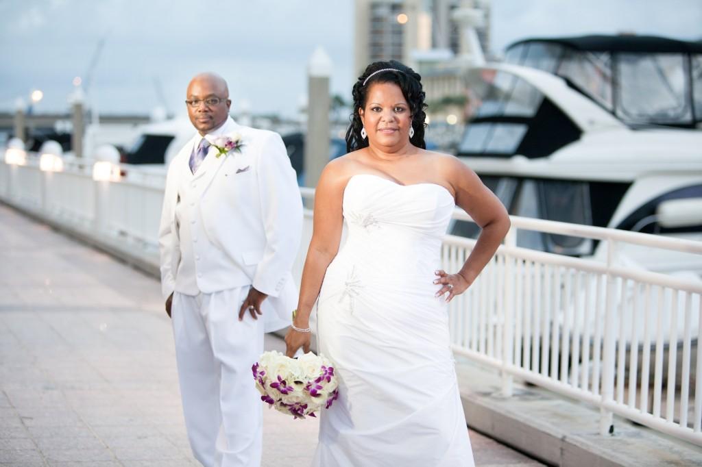 Elegant Purple & White Downtown Tampa Marriott Waterside Wedding by Tampa Wedding Photographer Eva's Photo Studio (11)