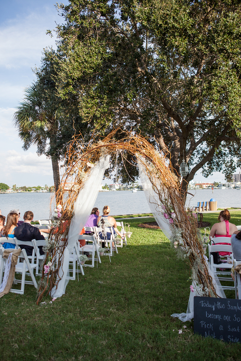 Pink Green Rustic Clearwater Beach Wedding Rec Center
