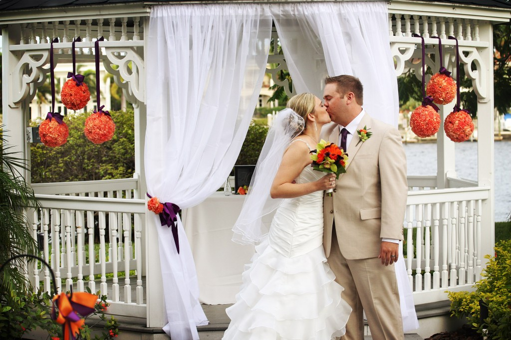 Orange & Purple Oktoberfest Wedding - Davis Island Garden Club - Victor's Photojournalism (17)