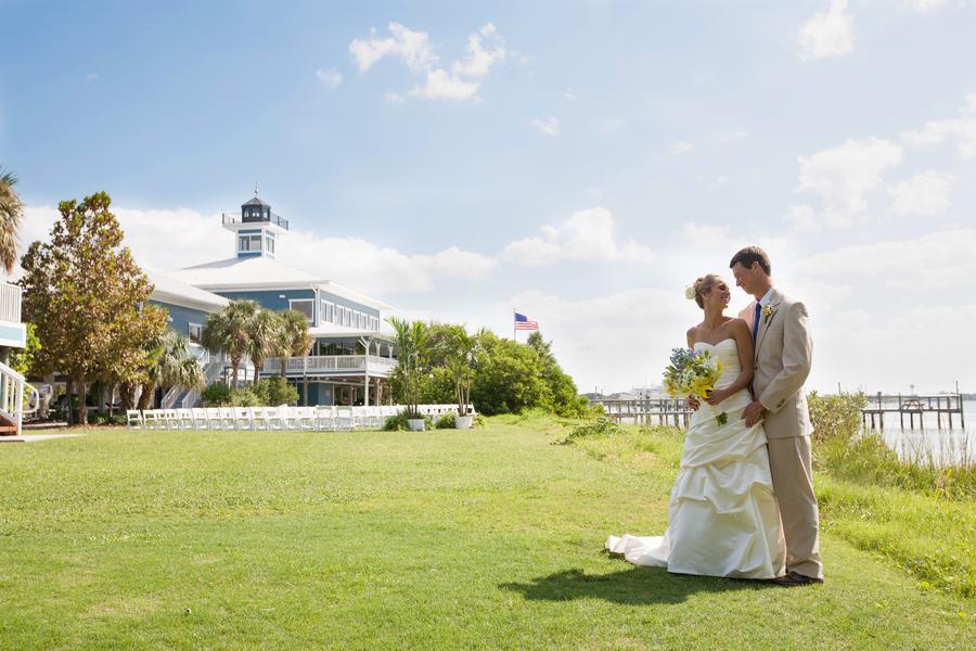 Light Blue & Yellow Waterfront Tampa Bay Watch Wedding - Kimberly Photography (28)