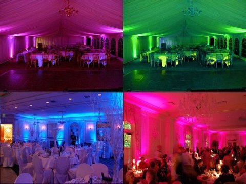 Uplighting by Tampa Wedding DJ - Grant Hemond and Associates
