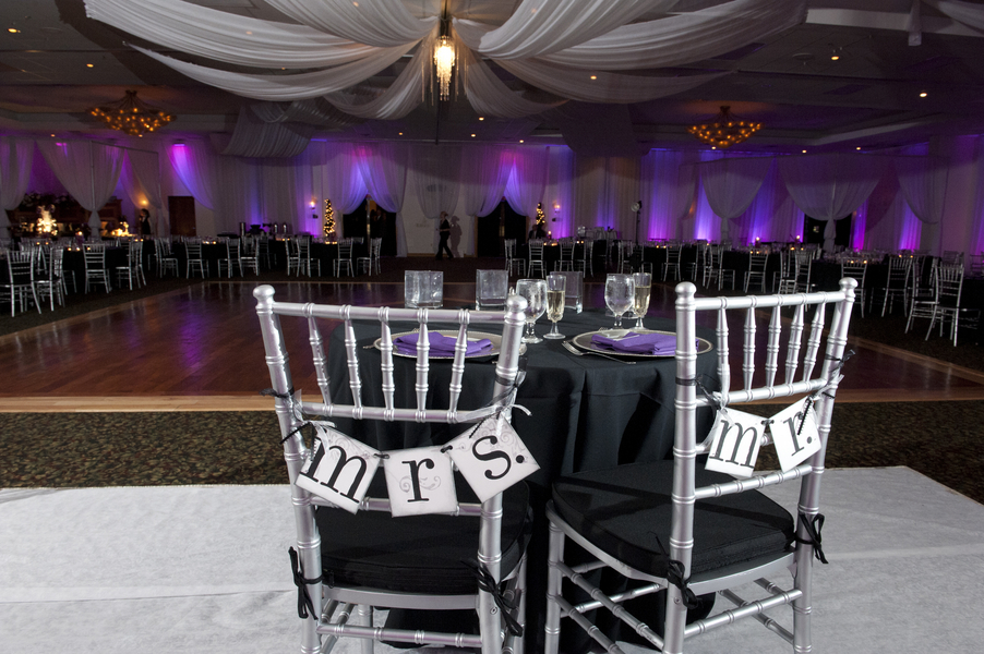 Purple, Silver & Black Tampa Firefighter Wedding - Tampa Wedding ...