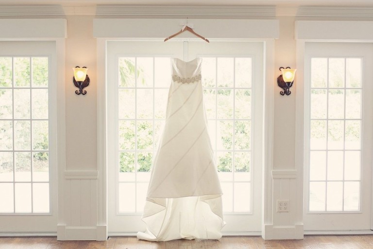 Anne Barge Ryan Gown with Ivy and Aster Sash - Tampa Bridal Shop Malindy Elene Bridal