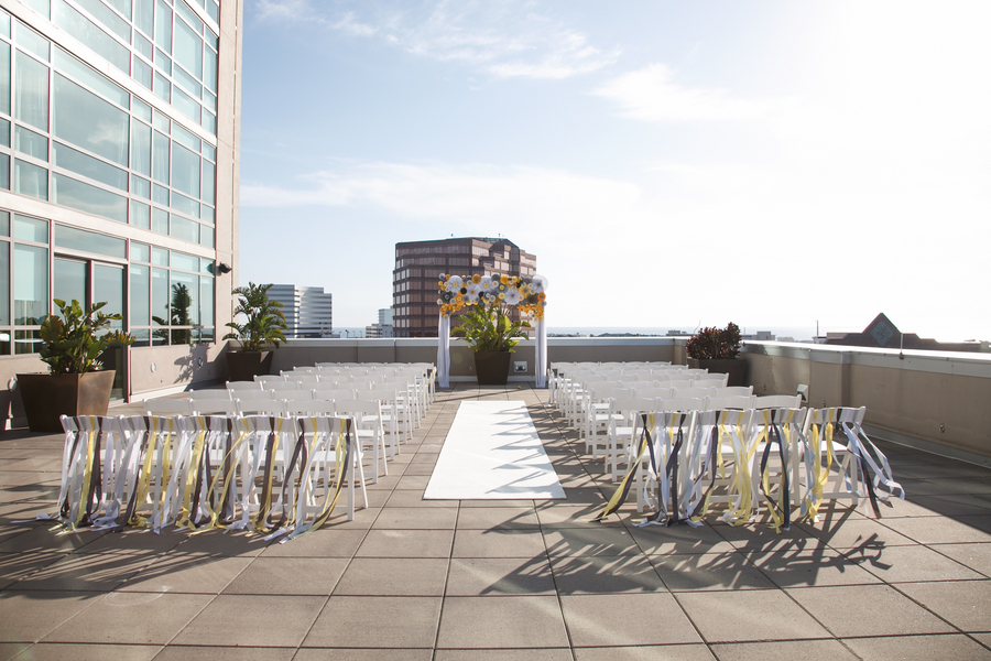 Modern Yellow & Grey Waterfront Tampa Wedding - Carrie Wildes Photography (24)