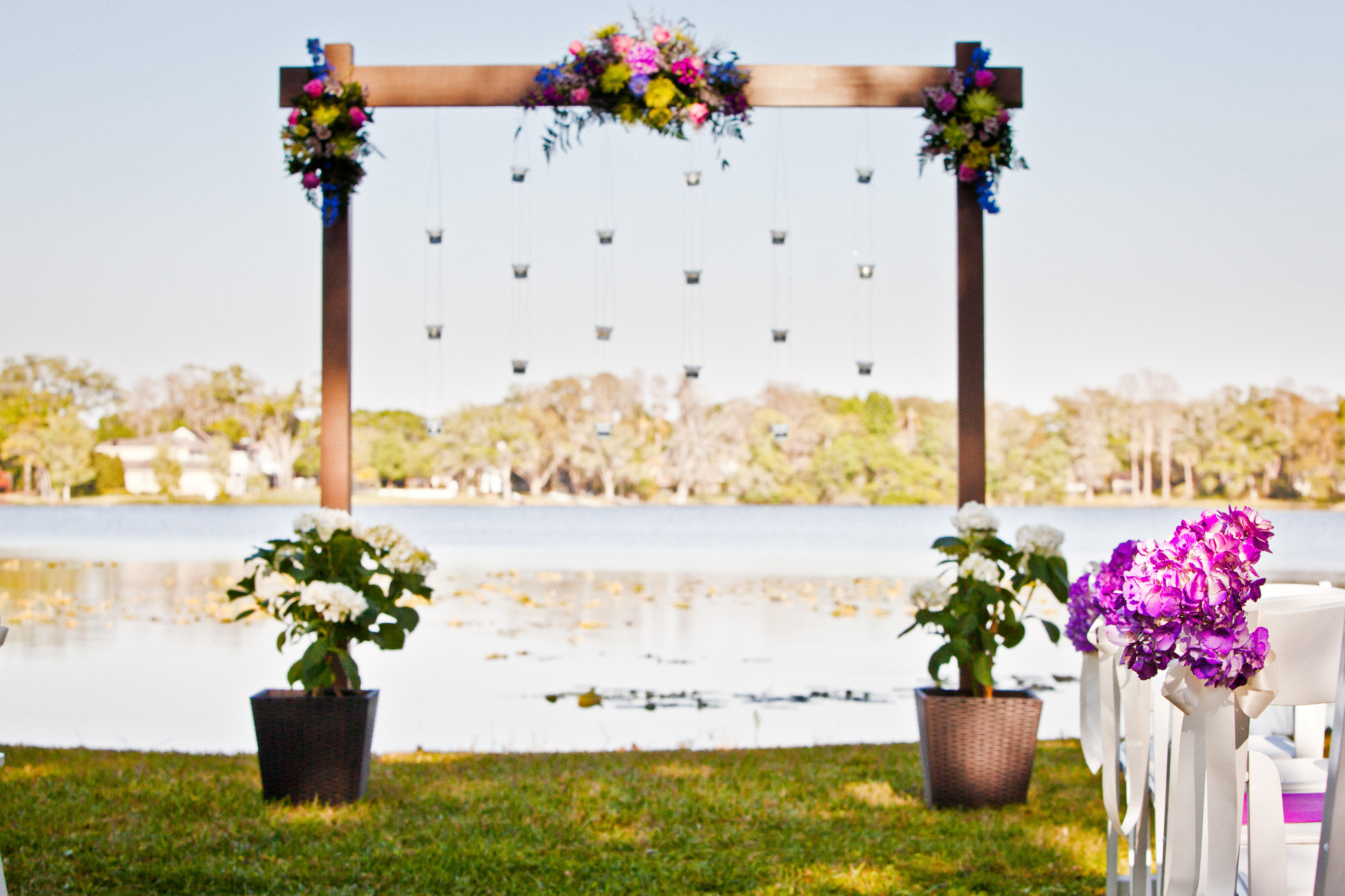 Purple Backyard Wedding :  Purple Backyard Tampa, FL Wedding ? Marry Me Tampa Bay Wedding Blog