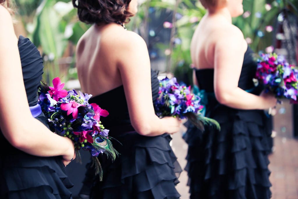 Purple, Teal and Royal Blue Peacock - Themed St. Petersburg Wedding - NOVA 535 Unique Event Space - VRvision Photography (30)