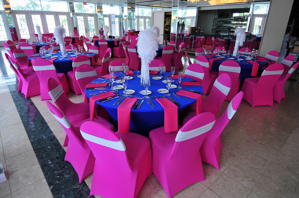 Modern South Beach Style Fuchsia Amp Royal Blue St Pete Beach FL Wedding Marry Me Tampa Bay