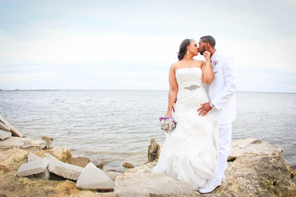 Purple Waterfront Tampa, Florida Wedding - Tampa Wedding Photographer Photo Announce It! (20)