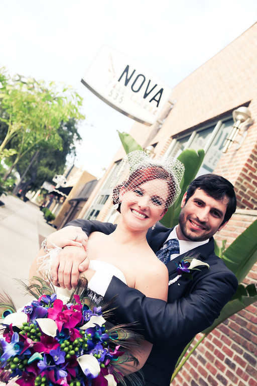 Purple, Teal and Royal Blue Peacock - Themed St. Petersburg Wedding - NOVA 535 Unique Event Space - VRvision Photography (19)