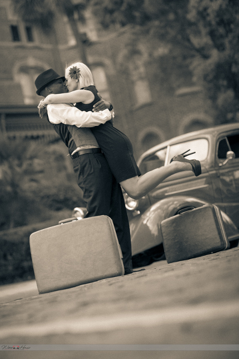 Vintage University of Tampa Engagement Session by Ware House Studios (6)