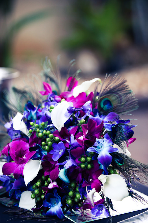 Purple, Teal and Royal Blue Peacock - Themed St. Petersburg Wedding - NOVA 535 Unique Event Space - VRvision Photography (33)