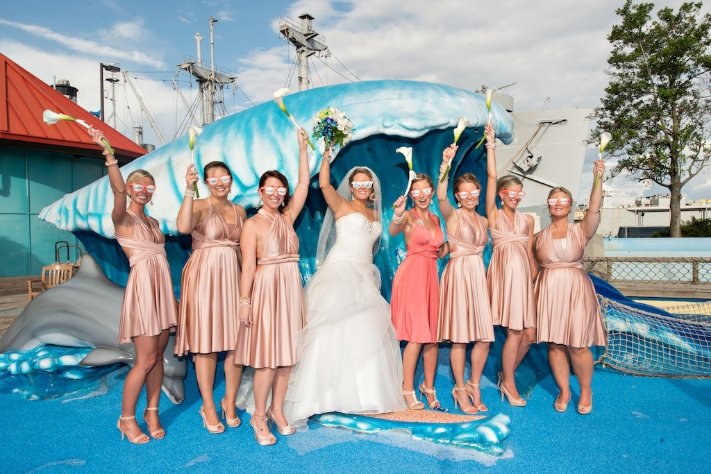 Lime Green & Peacock Blue Tropical Paradise Florida Aquarium Wedding - Tampa Wedding Photographer Captured Images by Augie (12)