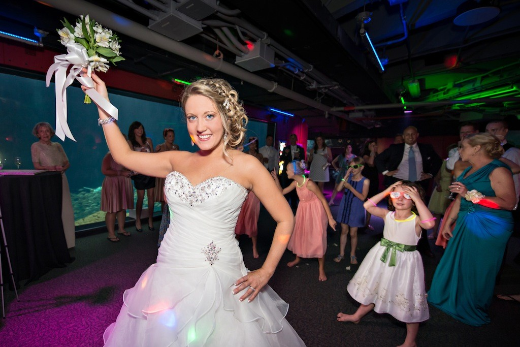 Lime Green & Peacock Blue Tropical Paradise Florida Aquarium Wedding - Tampa Wedding Photographer Captured Images by Augie (31)