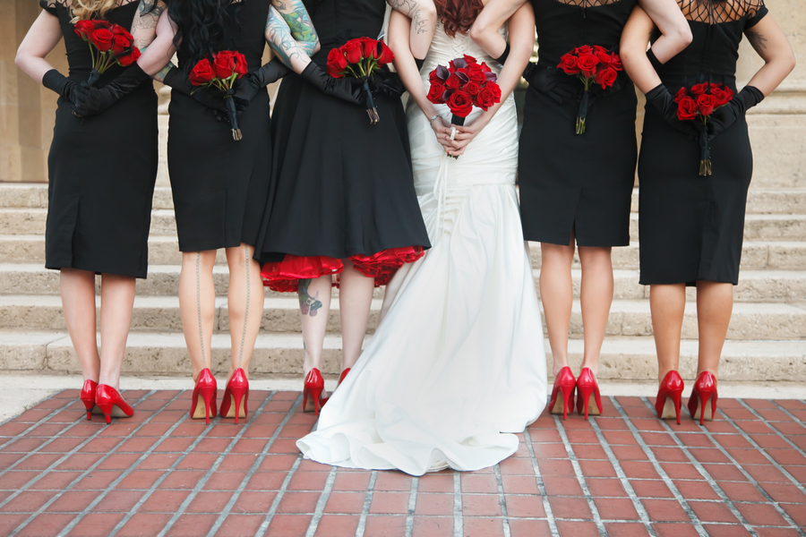 St. Pete Museum of Fine Arts Black & Red Halloween Themed Wedding - St. Petersburg, FL Wedding Photographer Carrie Wildes Photography (29)