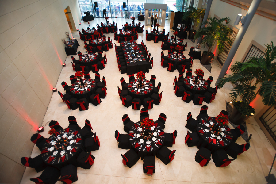 St Pete Museum Of Fine Arts Black Red Halloween Themed Wedding