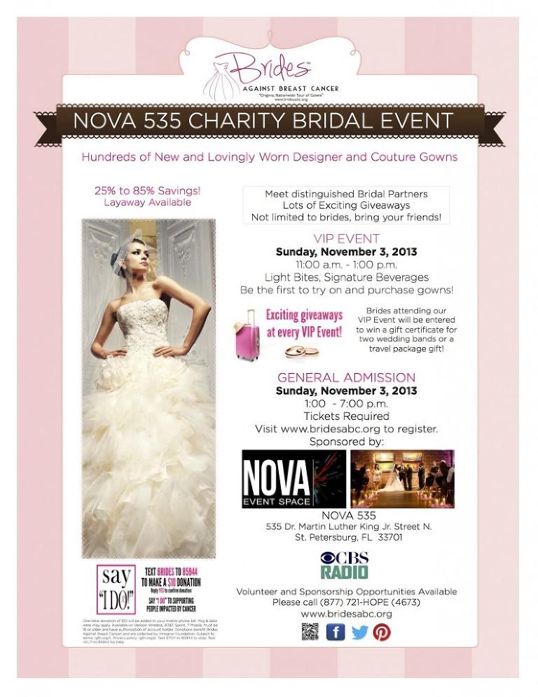 Breast Cancer Wedding Dress Sale - Nov. 3, 2013 - NOVA 535 St. Pete, FL