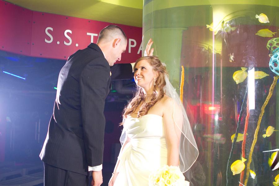 Cobalt Blue and Yellow Florida Aquarium Wedding - Tampa Wedding Photographer Horn Photography and Design (30)