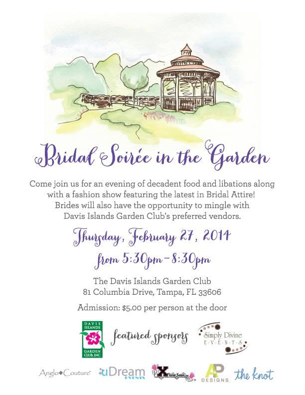 Davis Island Garden Club Bridal Show - Thursday, February 27, 2014