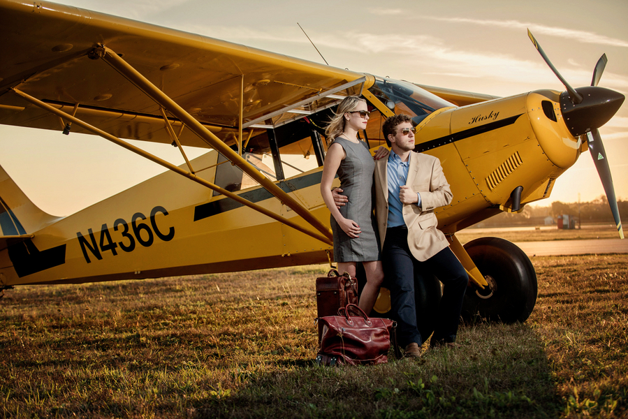 Tampa Airport Travel Themed Engagement Shoot - Tampa Wedding Photographer Marc Edwards Photography (18)