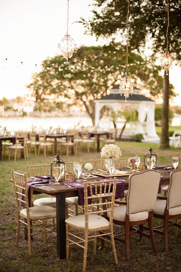 Purple, Ivory and Champagne Vintage Glam Wedding - Davis Islands Garden Club - Tampa Wedding Photographer Stephanie A. Smith Photography (20)
