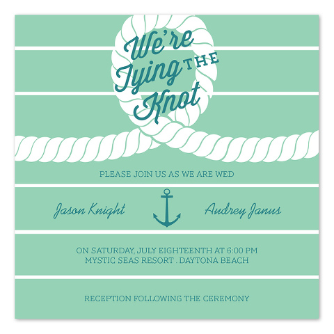 Nautical Wedding Invitations - InvitationConsultants.com - Anchored Always