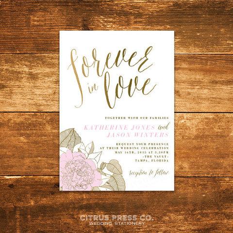 Tampa wedding invitations spring wedding invitations floralspring wedding invitation tampa wedding invitations citrus press stopboris Image collections