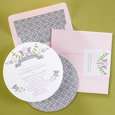 Pink Round Wedding Invitation Tampa Invitations Galleria Provincial Fl