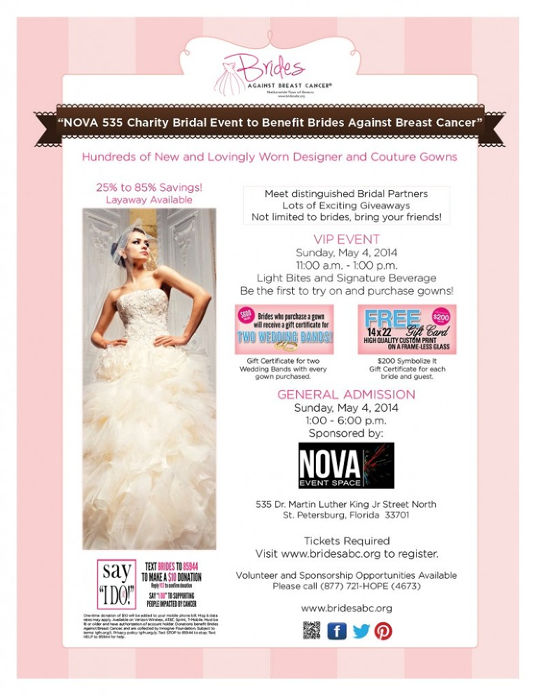 Brides Against Breast Cancer - Sunday May 4, 2014 - Wedding Dresses up to 85% off!