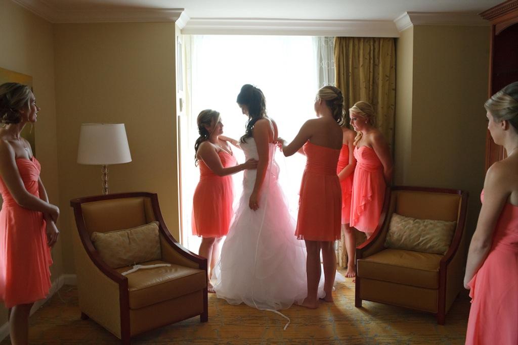 Florida Aquarium Wedding - Downtown Tampa Wedding Venue - Navy Blue & Pink Nautical Wedding (39)