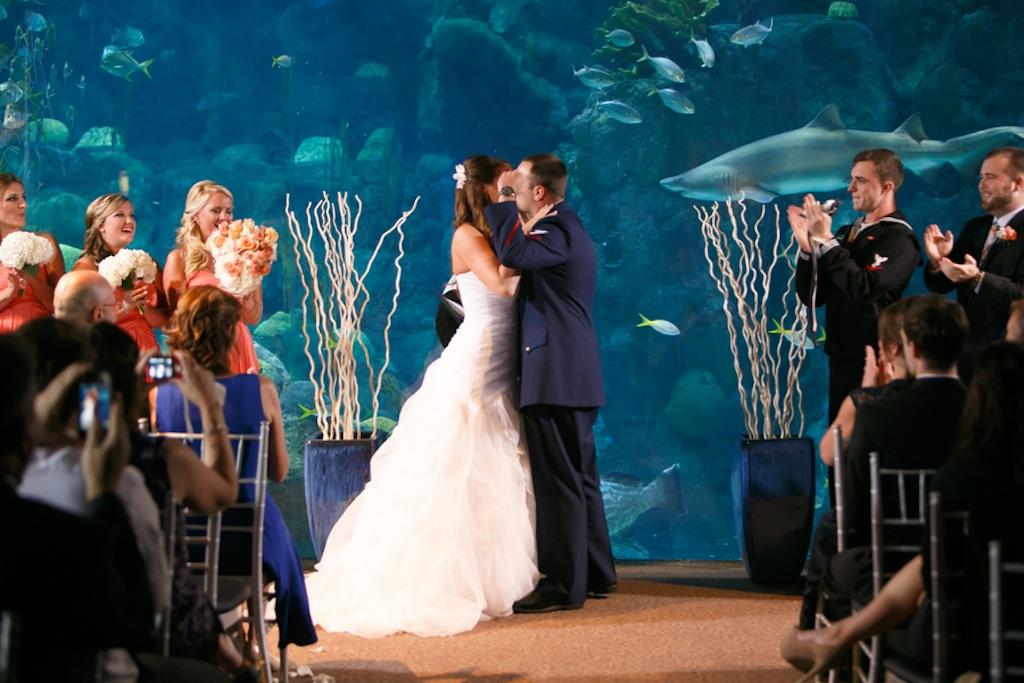 Florida Aquarium Wedding - Downtown Tampa Wedding Venue - Navy Blue & Pink Nautical Wedding (23)