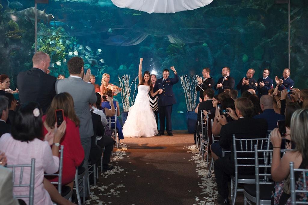 Florida Aquarium Wedding - Downtown Tampa Wedding Venue - Navy Blue & Pink Nautical Wedding (22)