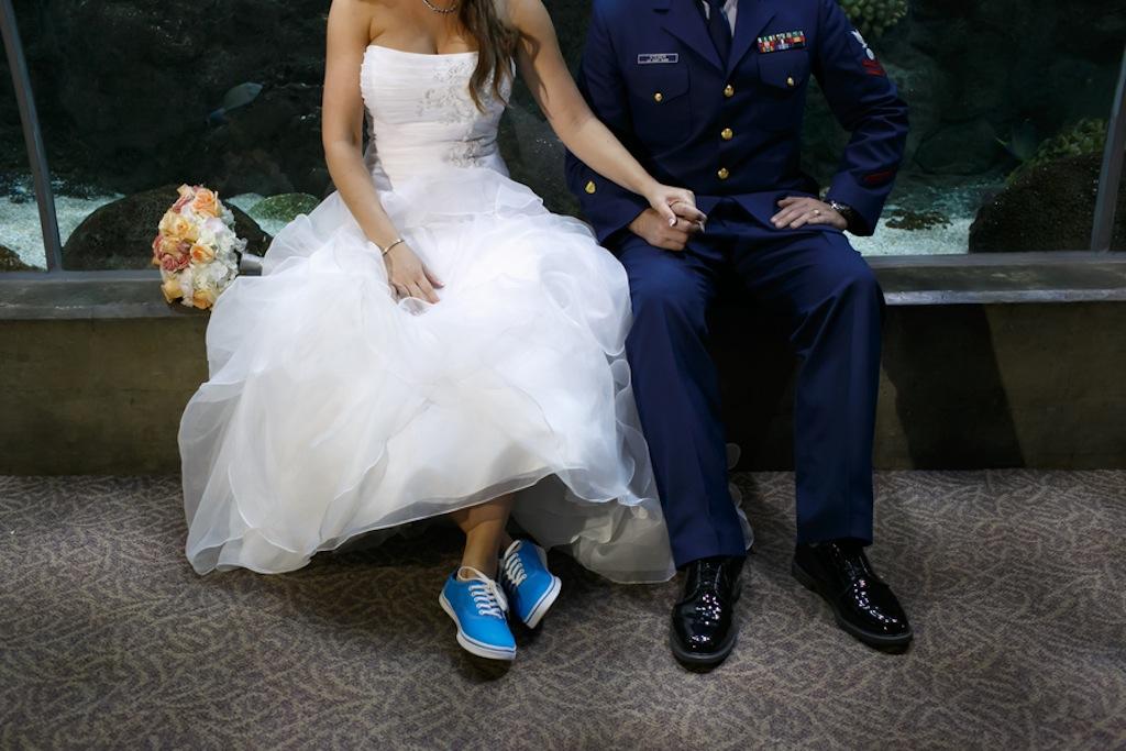 Florida Aquarium Wedding - Downtown Tampa Wedding Venue - Navy Blue & Pink Nautical Wedding (17)