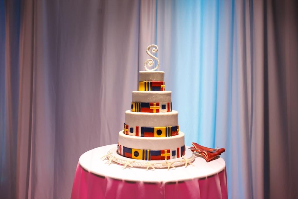 Florida Aquarium Wedding - Downtown Tampa Wedding Venue - Navy Blue & Pink Nautical Wedding (7)