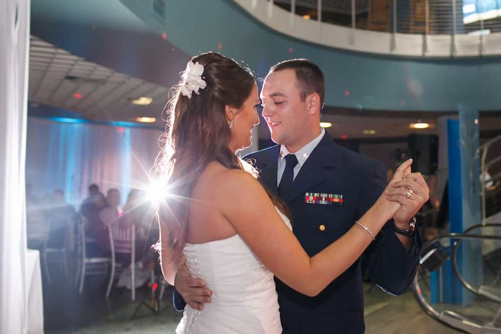 Florida Aquarium Wedding - Downtown Tampa Wedding Venue - Navy Blue & Pink Nautical Wedding (5)