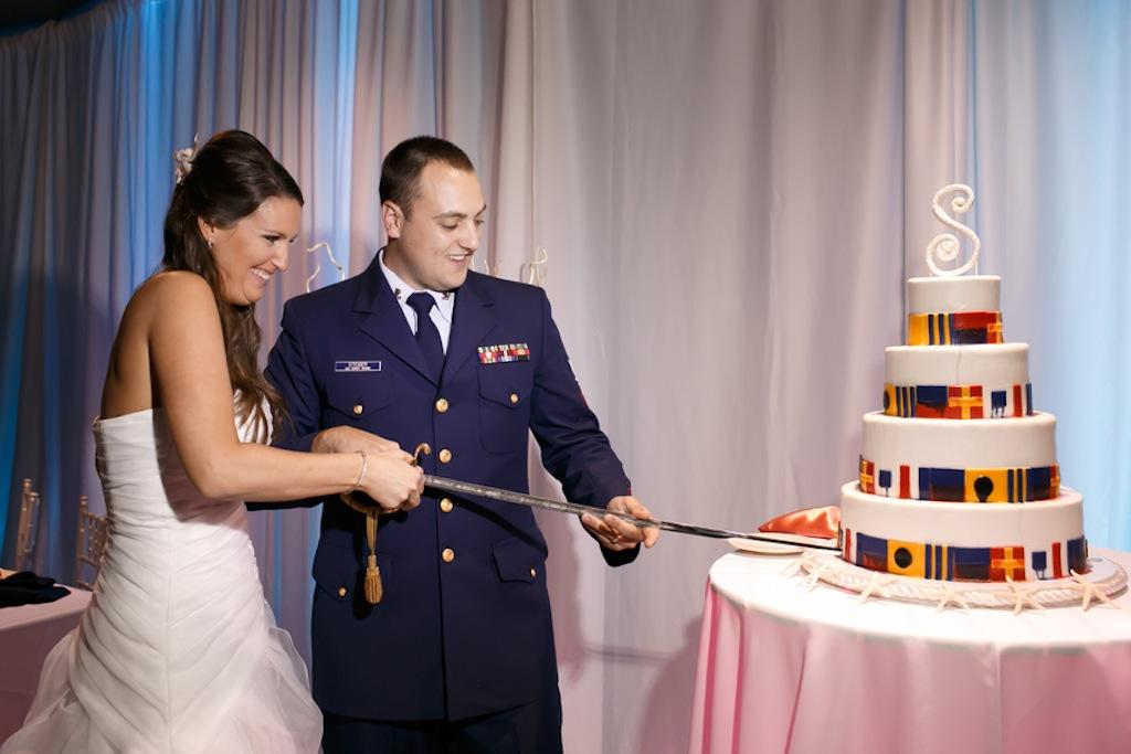 Florida Aquarium Wedding - Downtown Tampa Wedding Venue - Navy Blue & Pink Nautical Wedding (4)