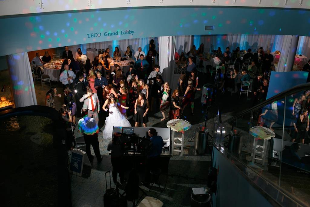 Florida Aquarium Wedding - Downtown Tampa Wedding Venue - Navy Blue & Pink Nautical Wedding (3)